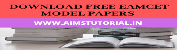 download EAMCET Model papers