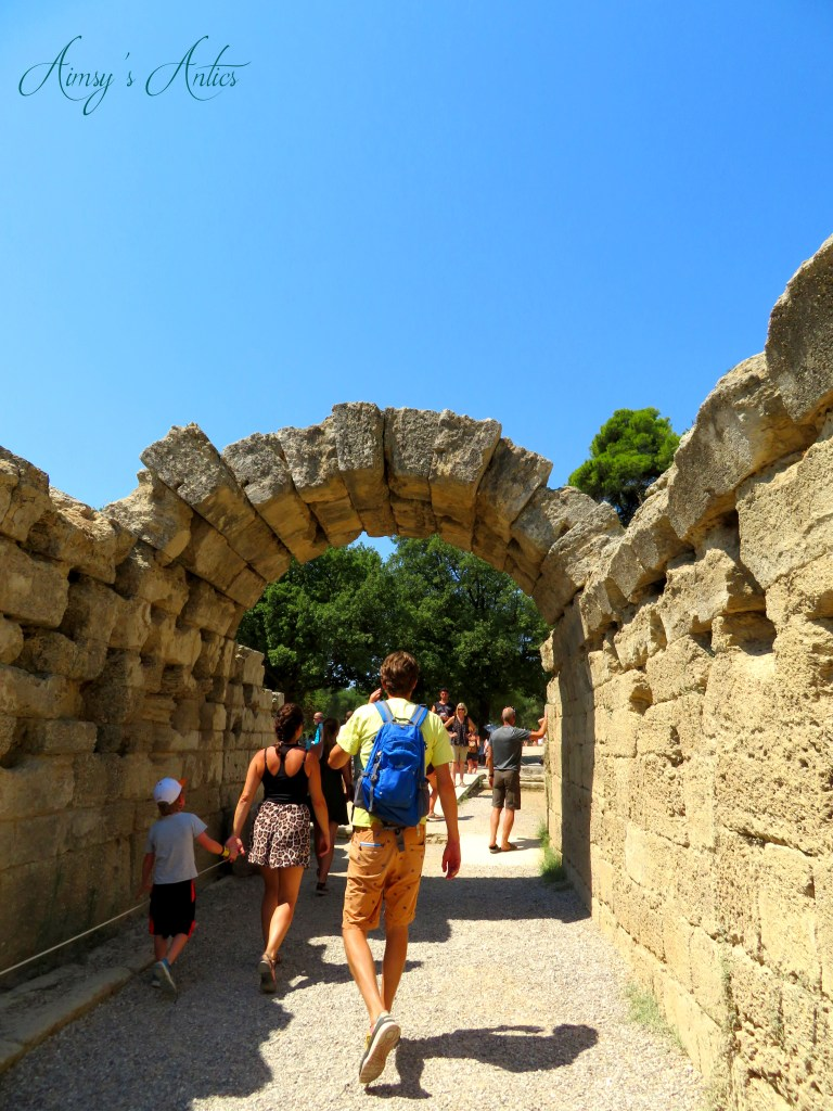 Ancient Olympia tunnel to main ground