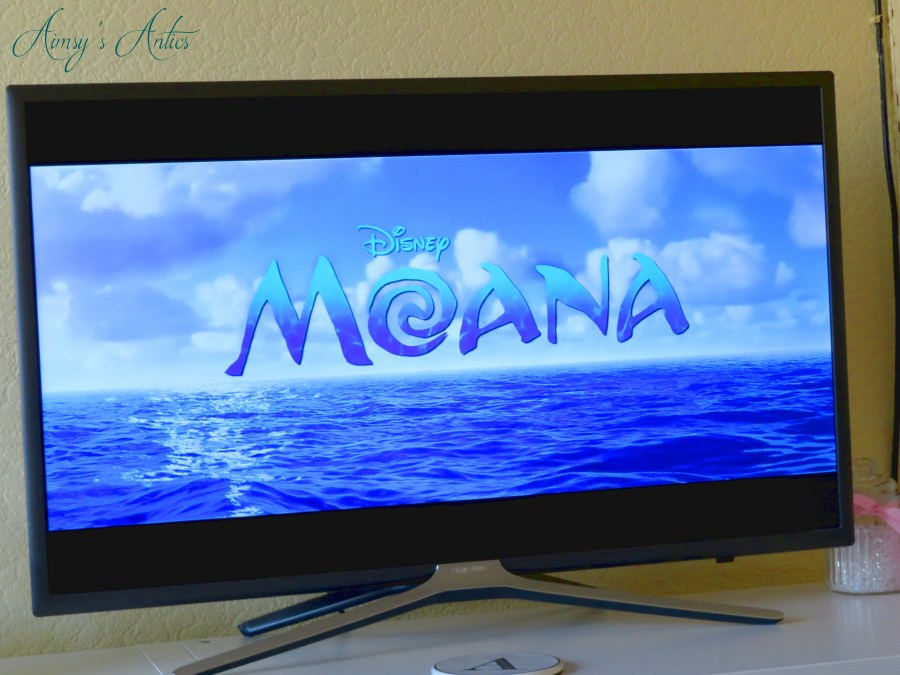 TV screen showing the Moana title image
