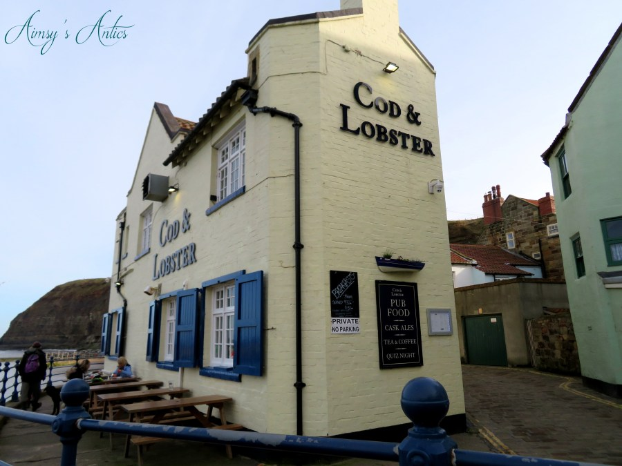 View of The Cod and Lobster Pub in Staithes