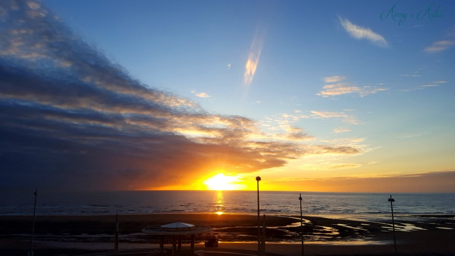 Image of a sunset from the high-end beachside house in Cleveleys