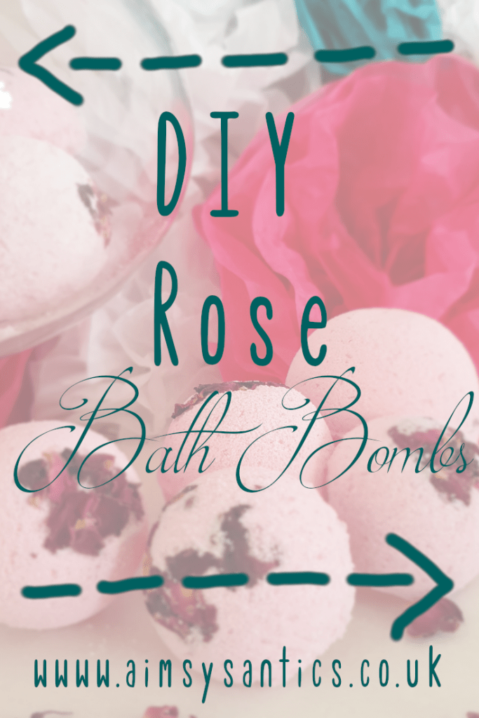 DIY Rose Bath bombs - How to make your own! - www.aimsysantics.co.uk