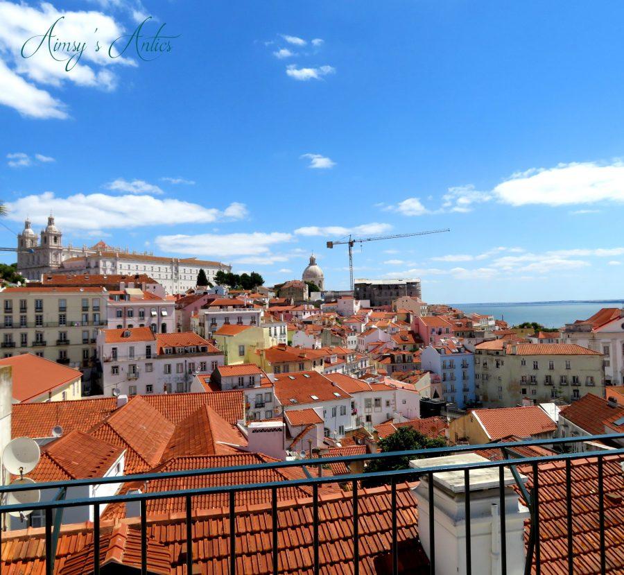 View of Lisbon rooftops from Miradouro das Portas do Sol Viewpoint
