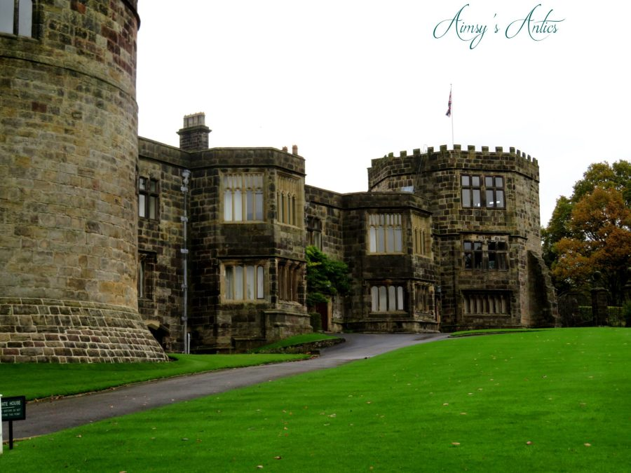 Part of the living quarters of Skipton castle. Outside view