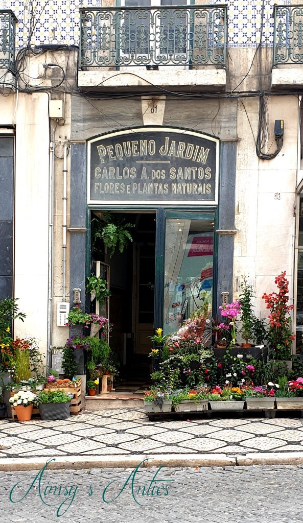 Florist shop exterior in Lisbon