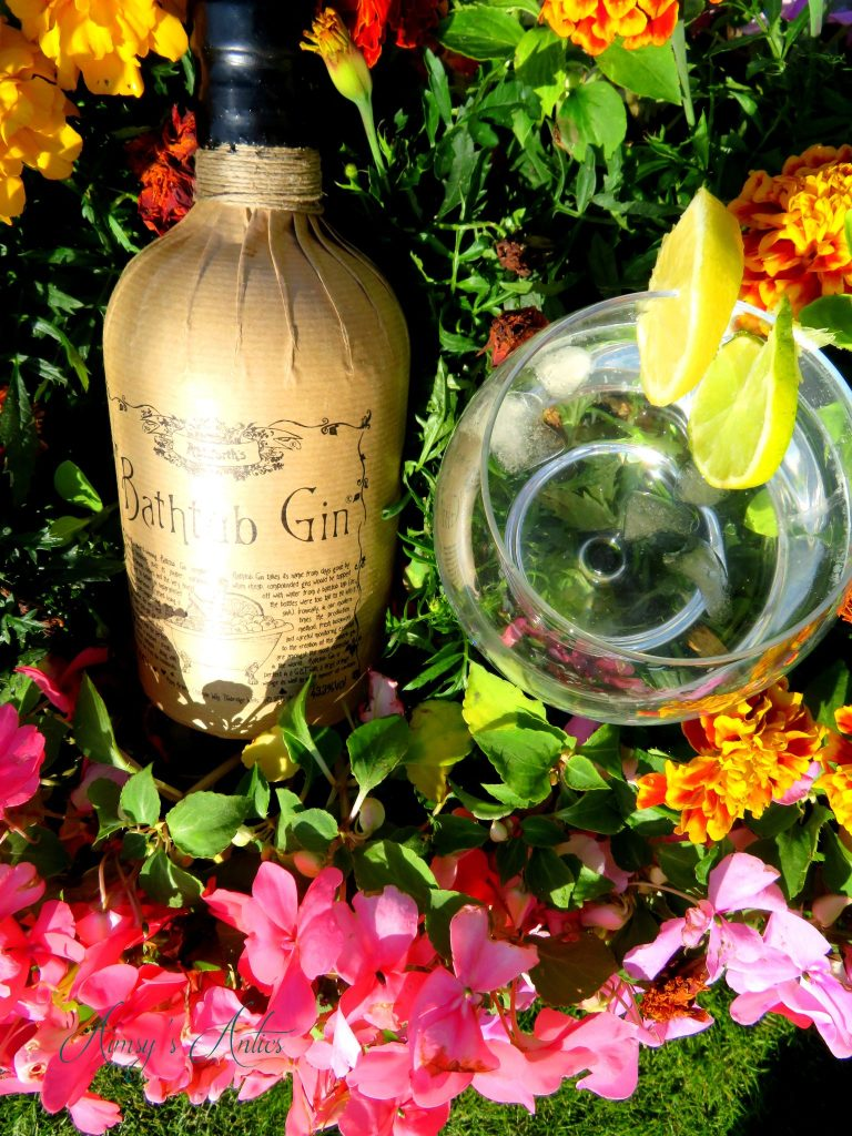 A Week Well Spent Campaign - Ableforth's bathtub gin displayed in flowers with a glass of G&T