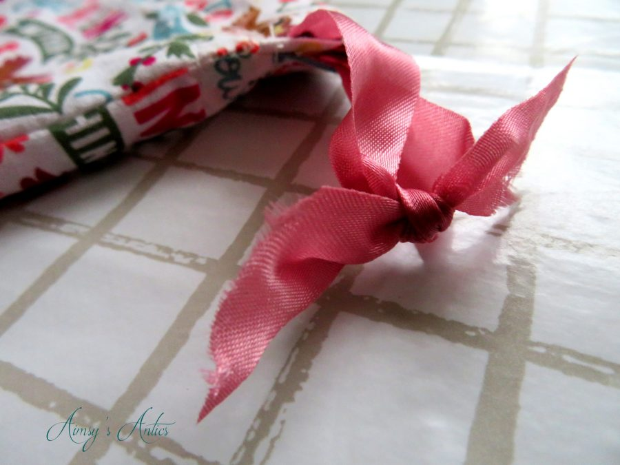 Ribbon ends tied in a knot