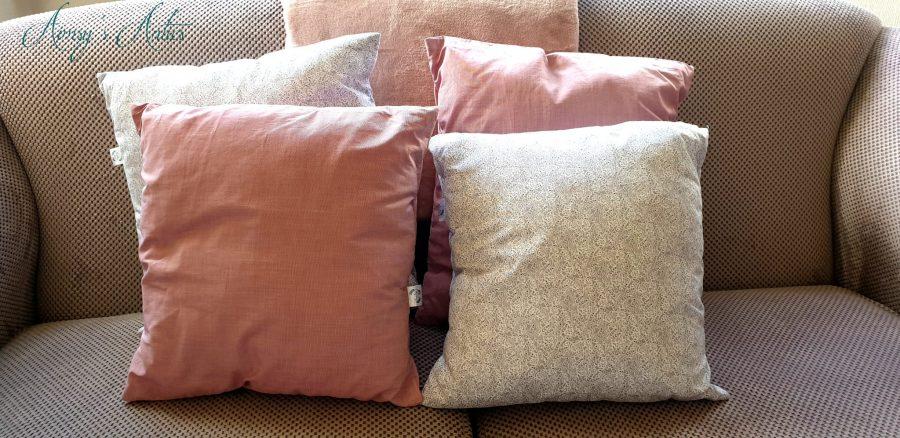 Handmade envelope cushions
