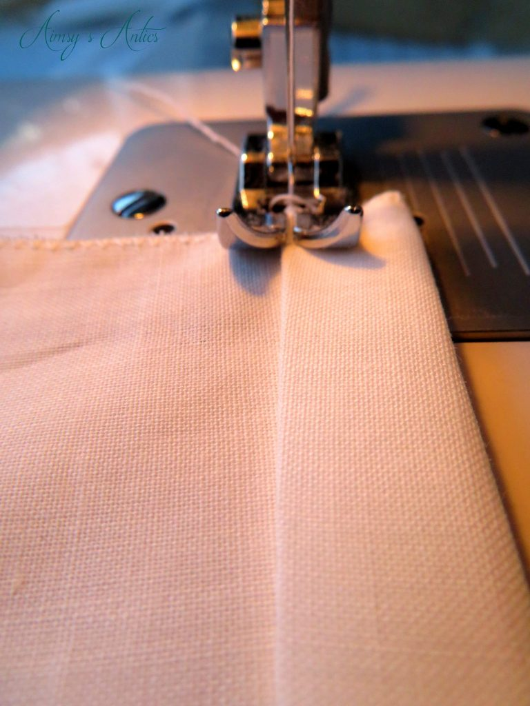 Sewing the topstitch