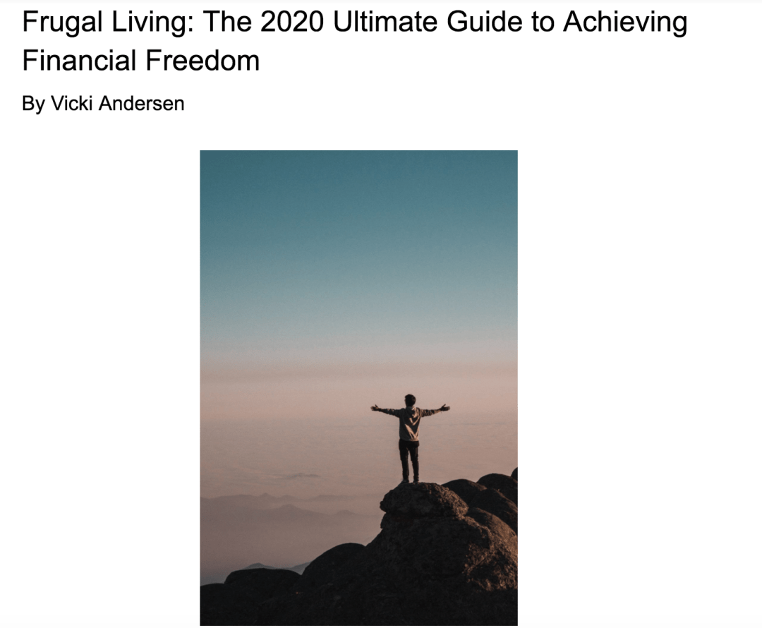 cover of Frugal Living: Ultimate Guide to Achieving Financial Freedom