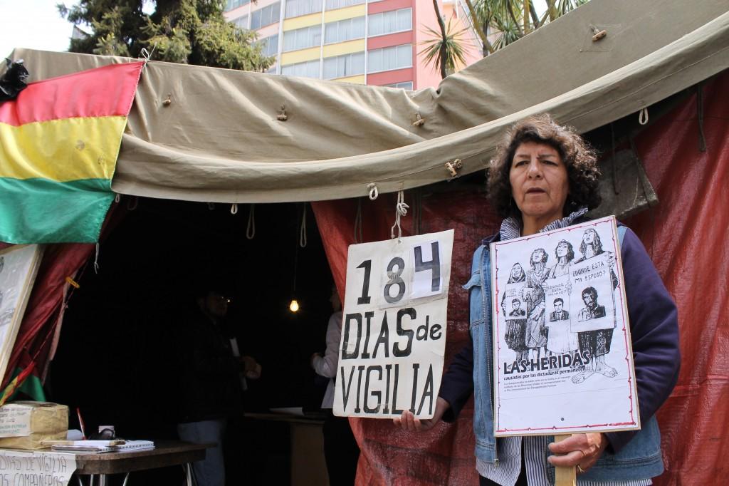 "Victoria Lopez, General Secretary; ""184 Days of Vigil"""