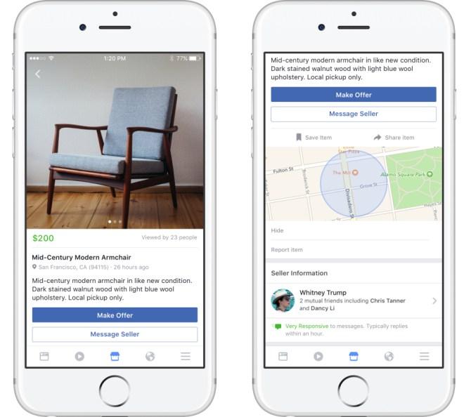 Facebook запустил сервис для публикации объявлений о продаже вещей