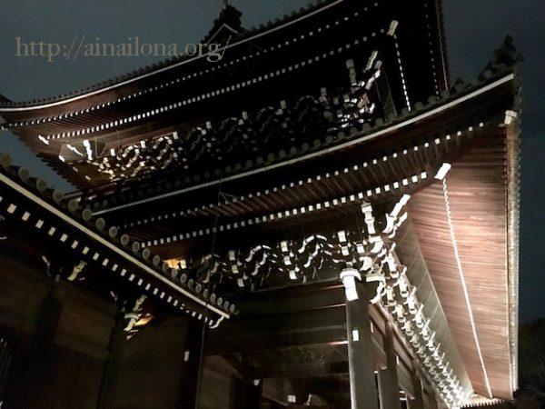 京都・知恩院三門・ライトアップ