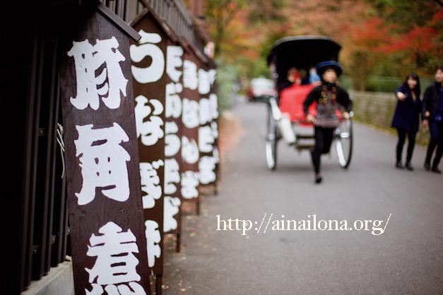 京都・円山公園・人力車