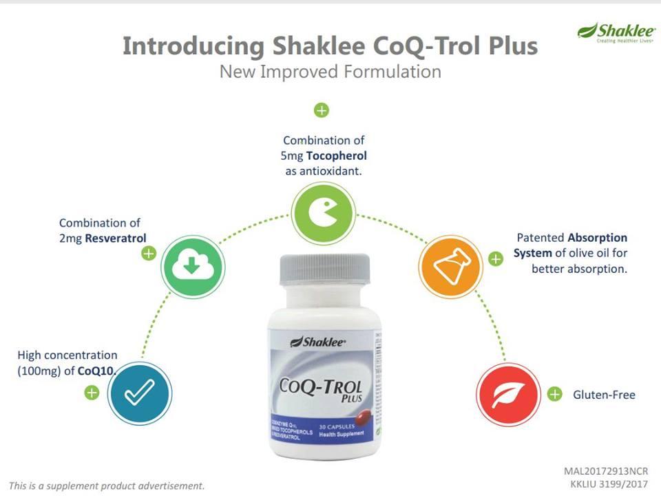 CoQ Trol Plus Shaklee Dengan Formula Baru