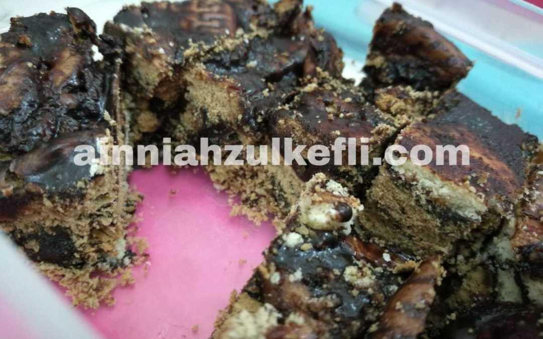 Resepi Kek Batik Coklat Sedap & Mudah