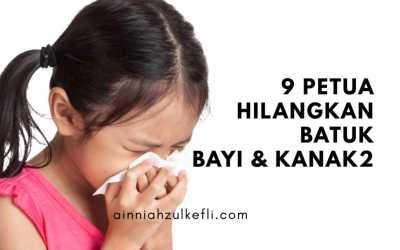 9 Petua Hilangkan Batuk Bayi dan Kanak2