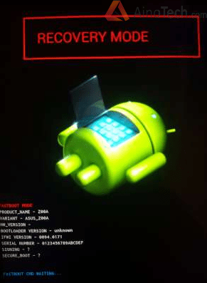 Asus ZenFone 2 - recovery mode