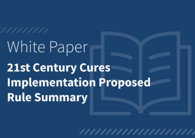 21st Century Cures Implementation Proposed Rule Summary