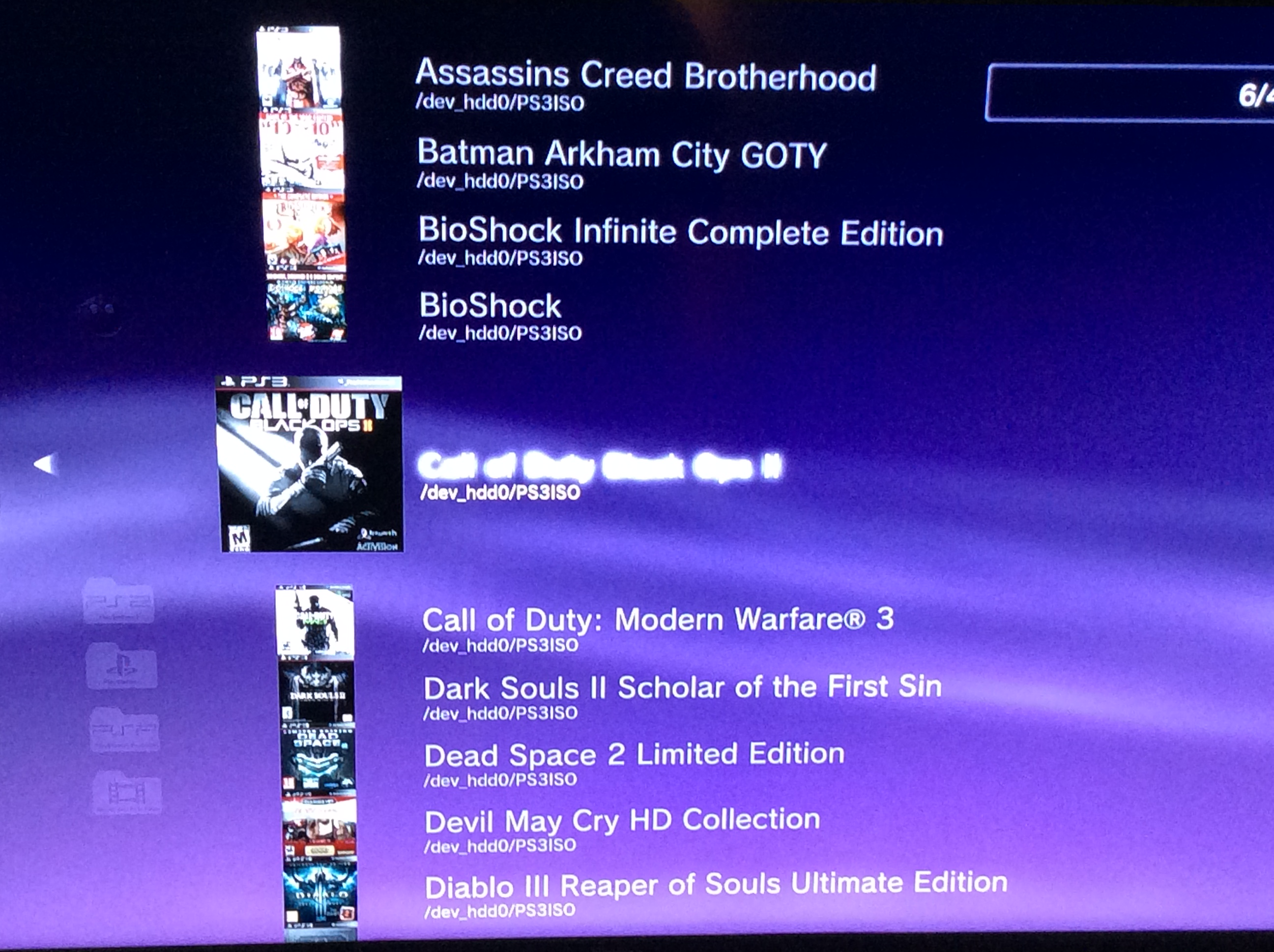 Sony Playstation 3 Jailbroken Psx Ps2 Ps3 Games Psx Classic Killer Cfw Ps3 Edition Aint No Games