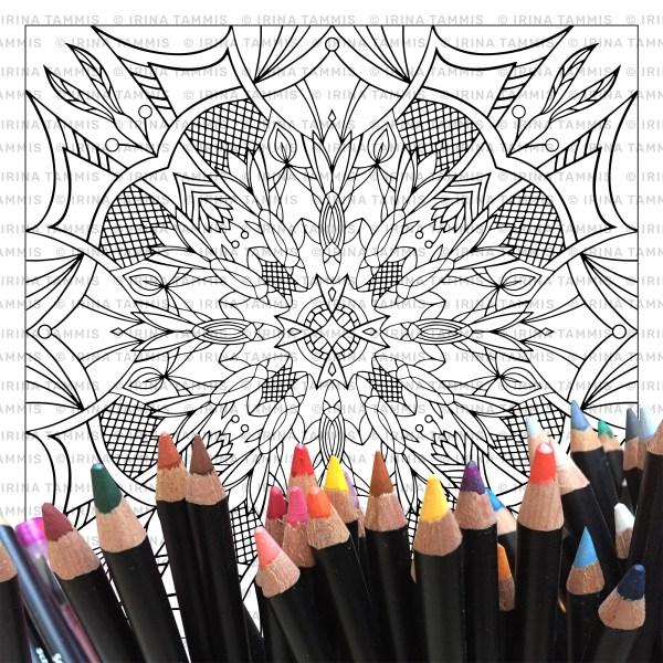 Mandala, värvi ise
