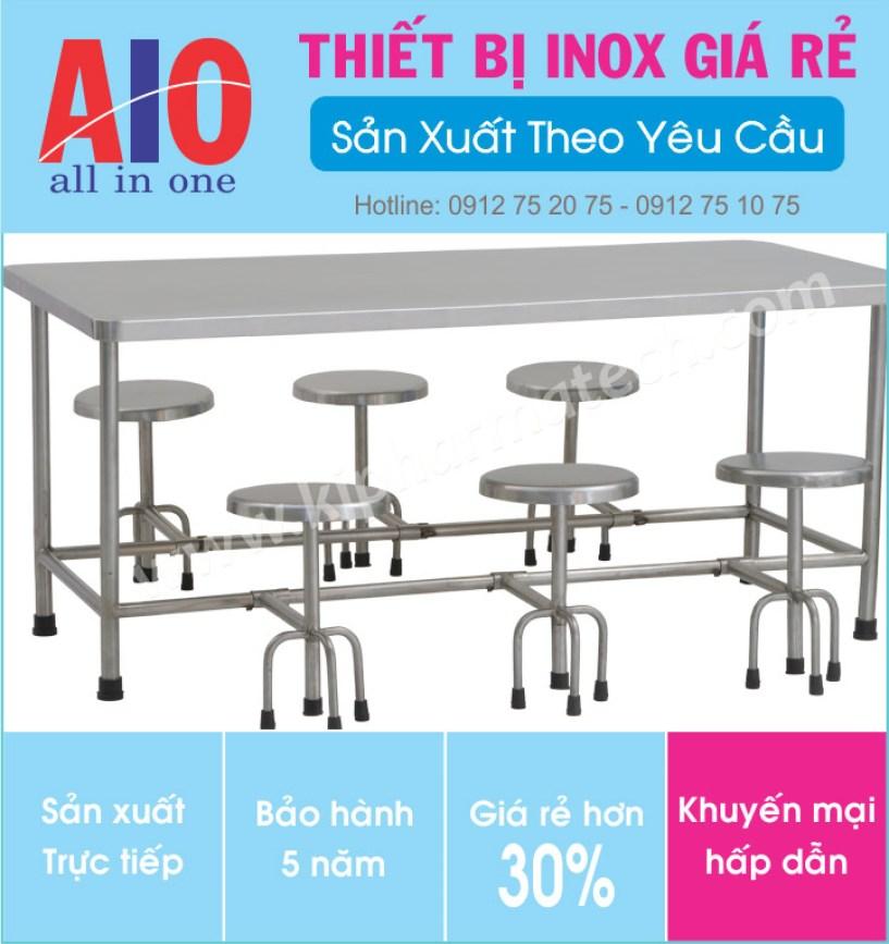 34 ban an inox canteen 377x400 - Bàn ăn inox sân vườn