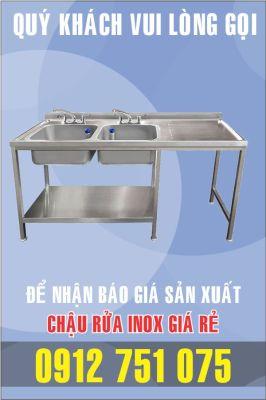 bon rua inox doi co ban phai 266x400 - Bán chậu rửa inox