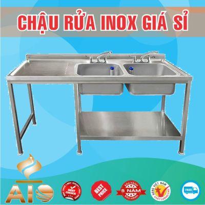 chau rua inox doi ban cho trai 400x400 - Xưởng sản xuất chậu inox