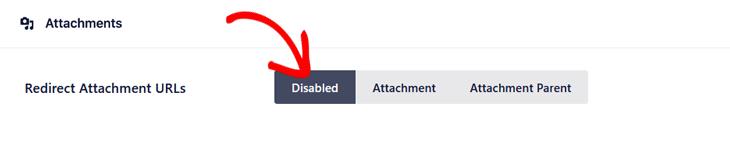disable redirect attachment urls
