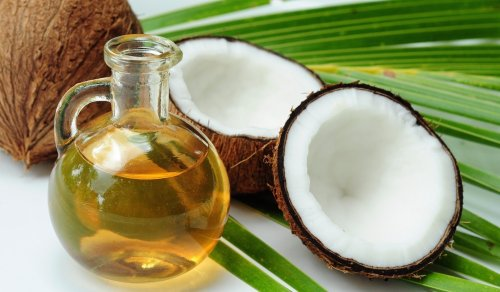 Coconut oil-advertisement-healthy hair and skin