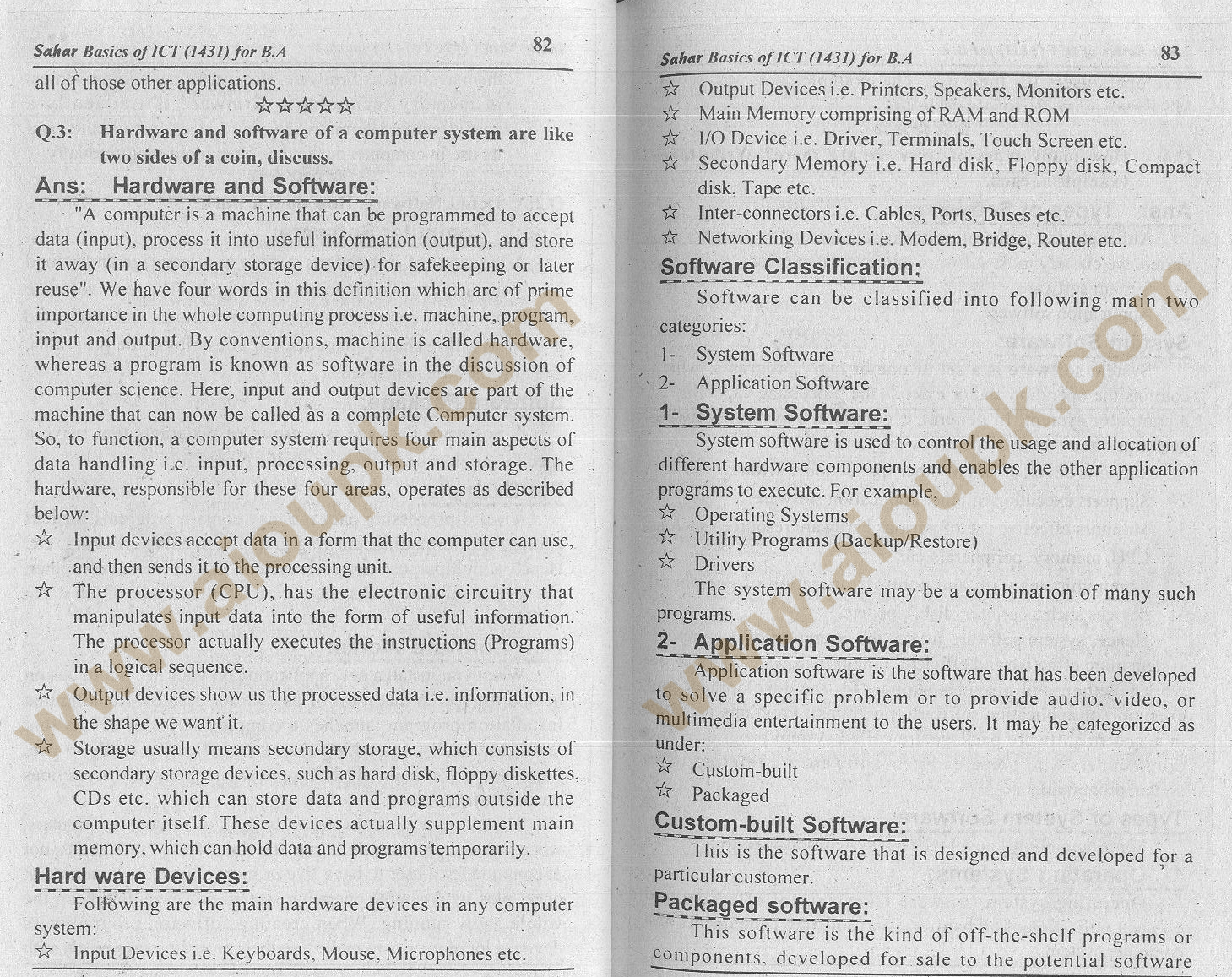 AIOU Solution of 2nd Assignment Basics of ICT Code 1431 BA