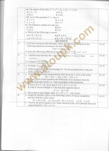 Code 1309 side b AIOU Old Paper Spring 2013 mathe