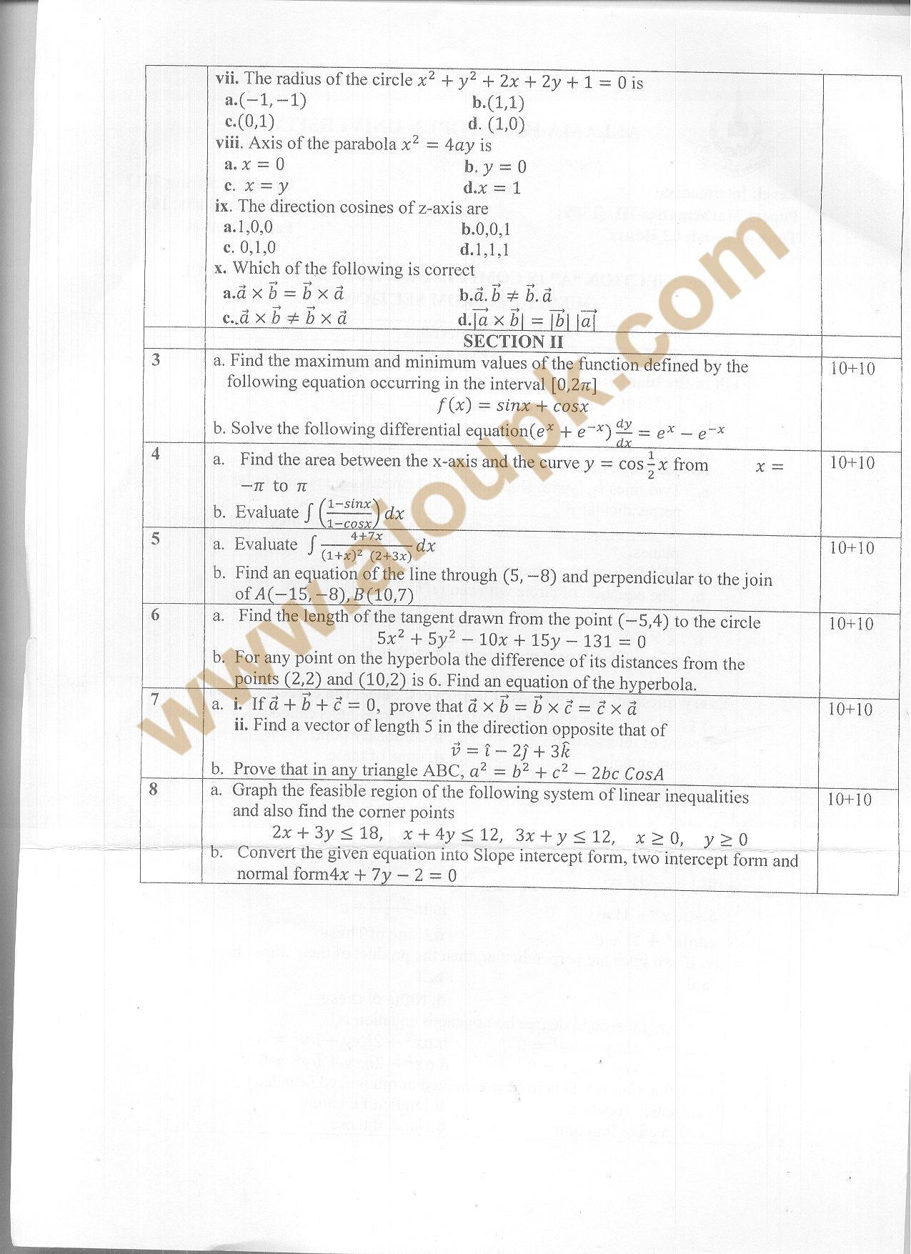 Mathematics -III Code 1309