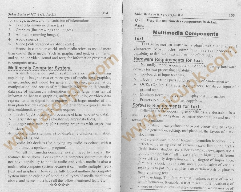 Basics of ICT Code 1431 2nd Solved Assignment Spring 2014