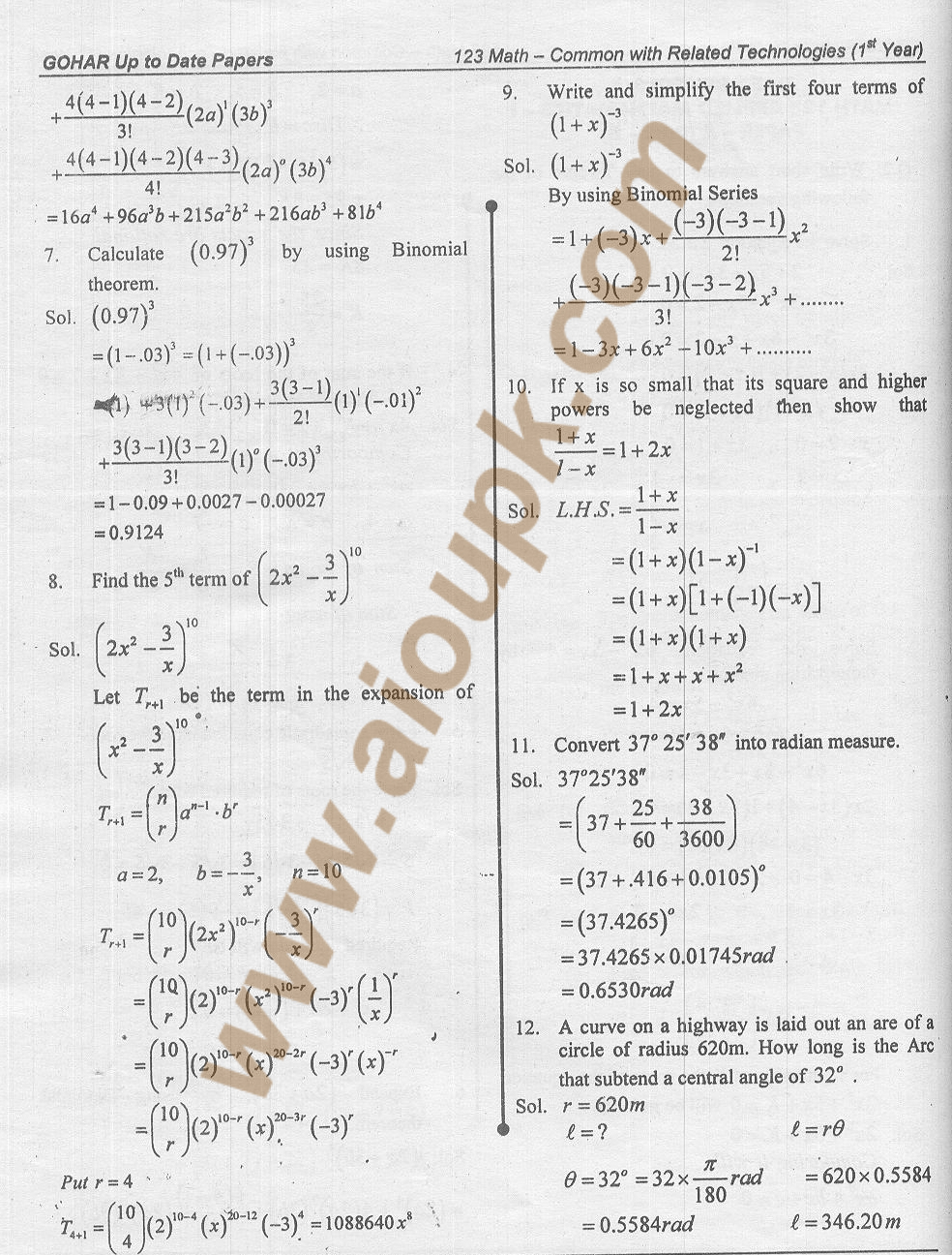 Mathematics grade 12 study guide