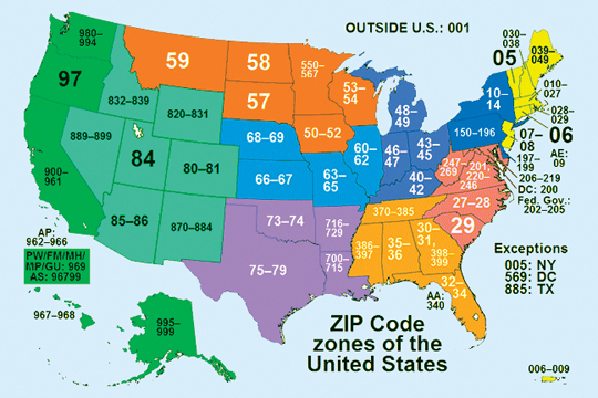 ZIP Codes  Have Bag Will Travel