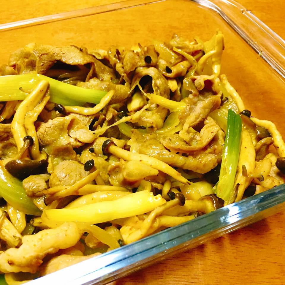 薑黃炒羊肉鴻禧菇 – 自體免疫微笑廚房