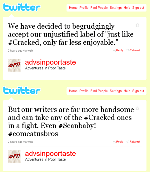 AiPT Presents the Best Tweets of 2011 (That Never Happened)