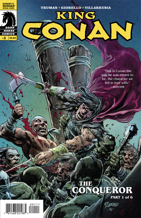 After a brief hiatus writer Timothy Truman and artist Tomás Giorello are back showcasing King Conan in all his flashback story delivering glory. Their last arc was so-so with some very big highs and some very meh lows. A new arc begins today and we get a chance to peruse its pages to let you know the answer to our usual question, is it good?