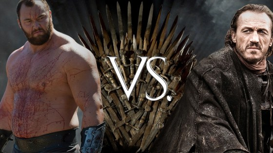 "Welcome to Game of Thrones ""Who Ya Got?"", where we'll discuss fantasy match-ups between combatants from George R.R. Martin's gritty fantasy world with the gusto of professional sports analysts discussing the latest person Tiger Woods has slept with.  First up:"
