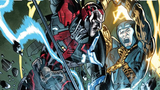 """When you read X-O Manowar there is one question that always lingers... is it a zero or the letter """"O"""" that comes after the X? We may not ever figure this out (Editor:  Yes, Dave is the only one wondering this, since everyone and their grandma, including Valiant, spells it with the letter """"O""""), but we will learn if his suit is a threat to himself and all of humanity.  Why?  Because there are some armor hunters who are going to take it for that very reason, whether that danger is real or not.  Is it good?"""