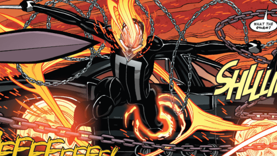 I've been enjoying All-New Ghost Rider quite a bit now with its weird but enjoyable combination of superhero insanity and real world issues.  It's a combination that doesn't seem like it'd work on paper -- but it does and it really makes for an engaging experience.  We have the ending for the first arc right here, so let's give it a look and see what it has to offer.  Is it good?
