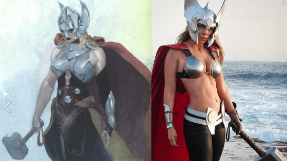 So you've probably heard the news by now that Marvel plans to turn Thor: God of Thunder into... the Goddess of Thunder.  That's right, Thor is going to be a woman -- and quite frankly, we're pretty excited about it.  To celebrate, here's our favorite female Thor cosplay courtesy of Toni Darling: