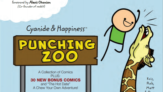 Who knew stick figures could be so funny? Actually, we did and for quite some time now. Cyanide and Happiness, one of the most successful web comics in the history of the internet has accumulated its brilliance into a physical book! Punching Zoo features 200 pages of C&H strips, featuring 30 brand new comics and even an interactive story where you decide the hilarious fate. Is it good?