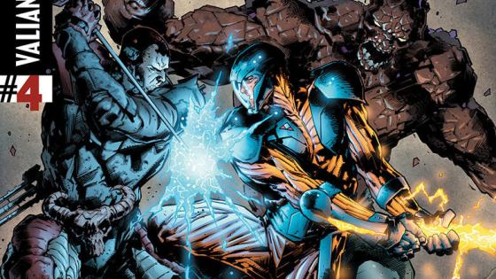 The best comic book event of the year finishes today and it's a full-scale war over Los Angeles. We're talking a skyscraper sized alien spaceship, X-O Manowar mans up and fights the good fight and the Armor Hunters get their butts handed to them. Or do they? Is it good?