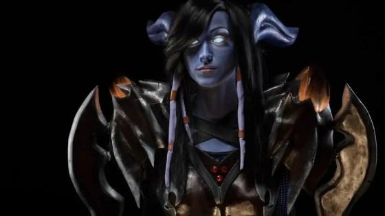 World of Warcraft Draenei Warrior Cosplay by Feyische
