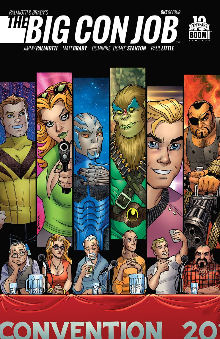 No fancy introduction this time around for this new mini-series by Jimmy Palmiotti and Matt Brady. Let's just get straight into the action. Is it good?