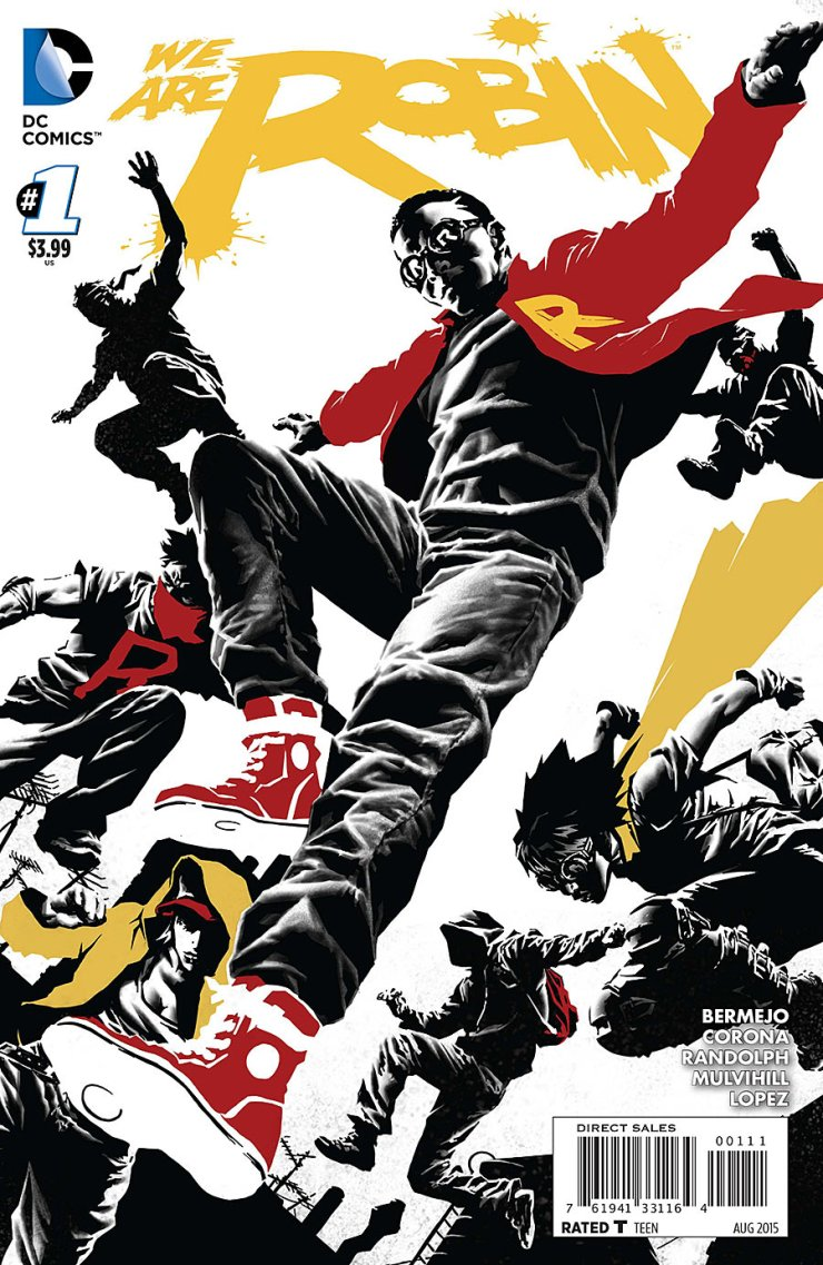From the artist of Before Watchmen: Rorschach and creator of Suiciders, DC presents this odd new title from Lee Bermejo. It is called We Are Robin, a completely new series on characters not involving the Bat-Family or the Gotham PD from initial appearances. Is it good?
