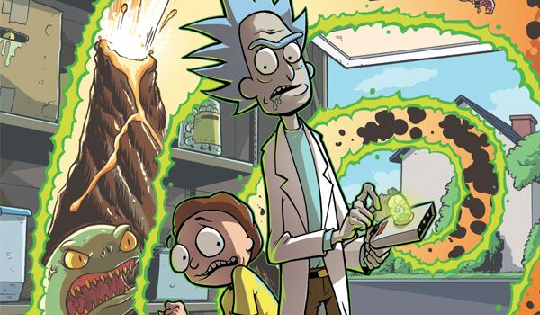 One of the reasons I enjoy Rick and Morty is because it rewards the viewer who pays attention. Sure most of the stories are done in one tales but details in one episode may pop up later or make a joke pay off even more. The latest issue of Rick and Morty does just that and uses it as a twist. It's also used to get the writer out of an impossible situation, but isn't that another reason we love this show? However impossible, they make it out alive (usually with many innocent people dying), but heck, it's still funny. But how about the comic, is it good?