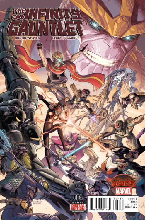 The Bakian family, joined by the Guardians of the Galaxy, face new threats inInfinity Gauntlet#4. All the while, Thanos has a plan of his own. Is it good?